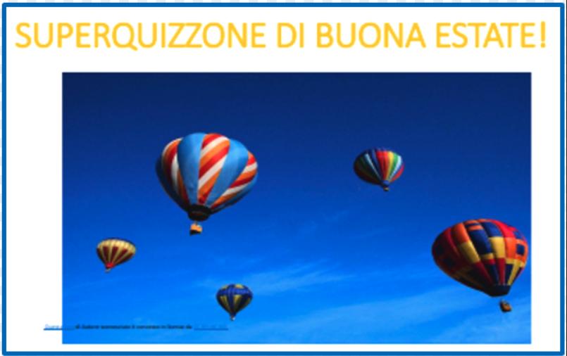 mongolfiere in cielo blu